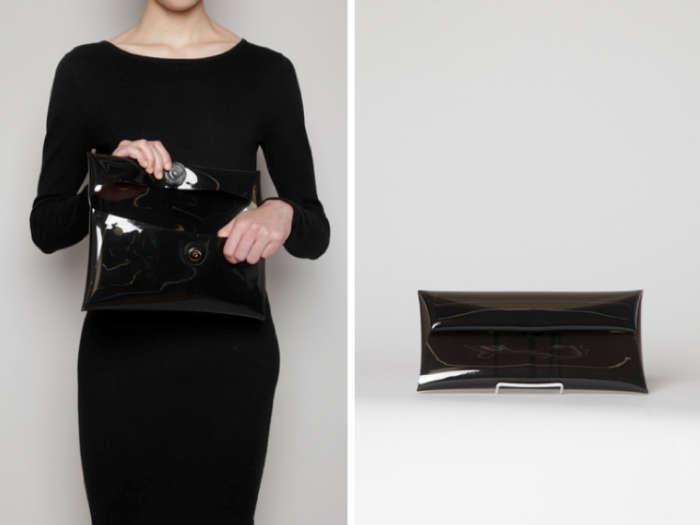 700 jil sander plastic envelope clutch