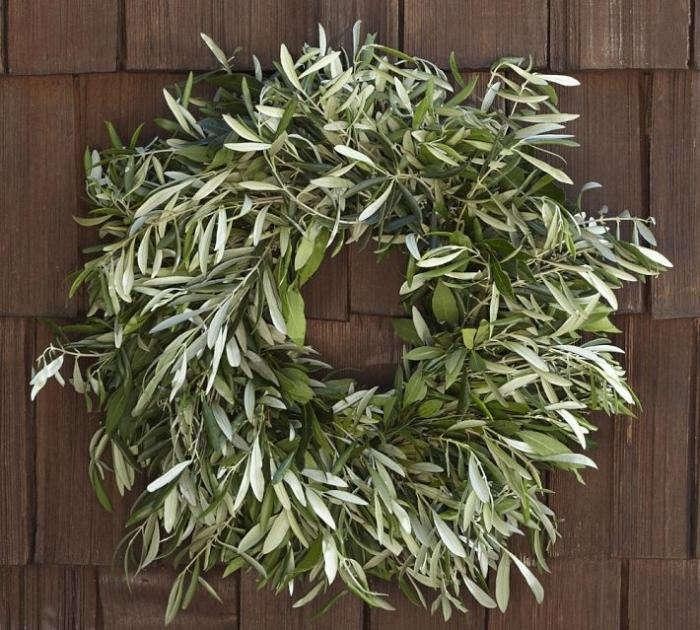 700 live olive myrtle wreath