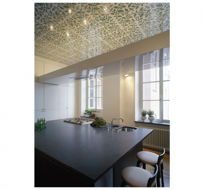 Design Sleuth A Swedish Kitchen with a Tiled Ceiling  portrait 3