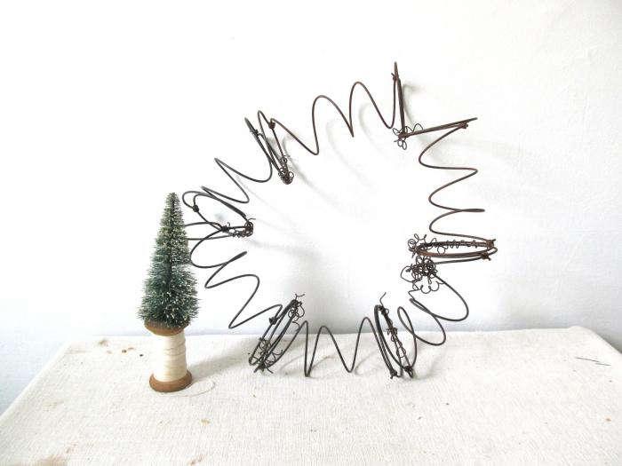 700 repurposed metal springs wreath