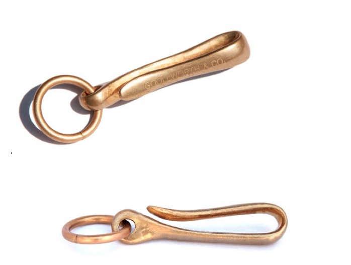 brass fob key ring