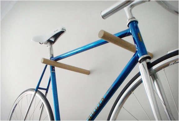 minimal wooden bike hook 2