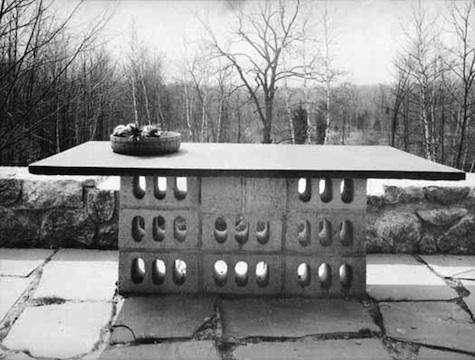 concrete block table breuer