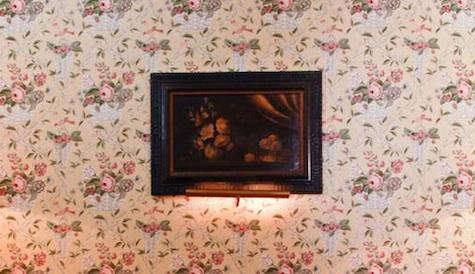 l  90  abbaye  20  floral  20  wallpaper  20  with  20  painting