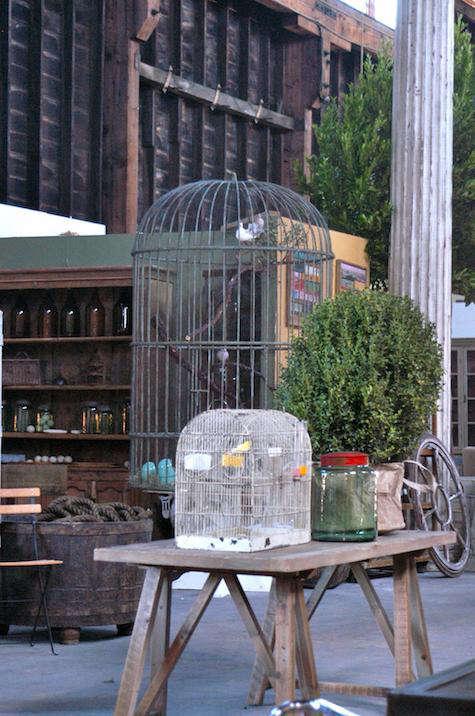 Steel birdcage big daddy sawhorse table