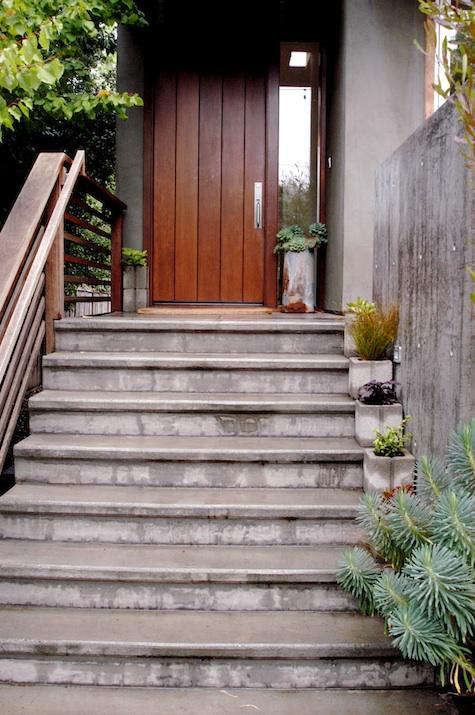 diy concrete planters succulents front door