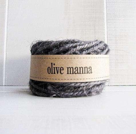 olive manna charcoal jute twine