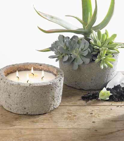 concrete mosquito repellent candle