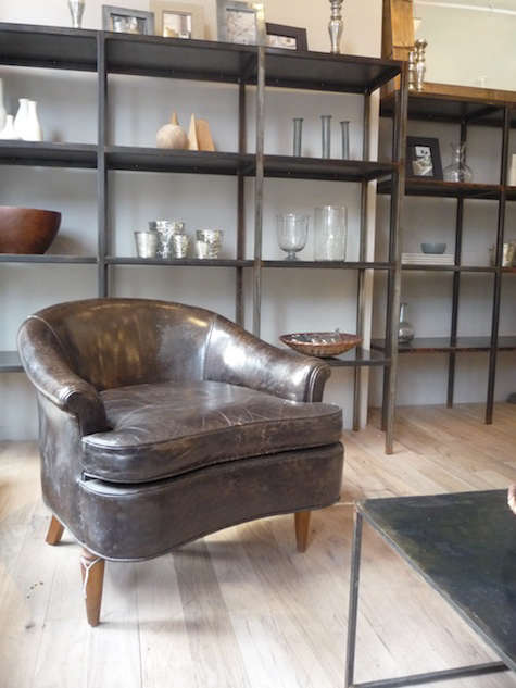 canvas store leather chair