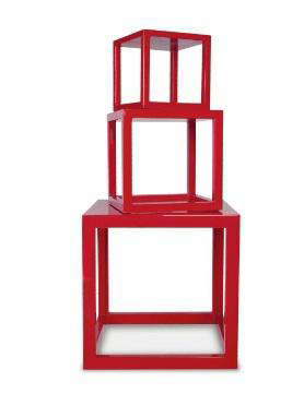 Furniture HighLow Red Nightstands portrait 5