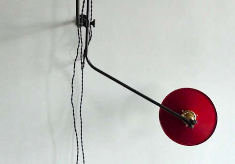 workstead bent wall lamp red