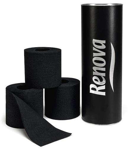 Renova black toilet tissue