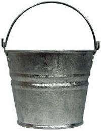 Tabletop Mini Galvanized Metal Buckets portrait 3_11