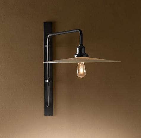 Circa 1900 wing arm lamp