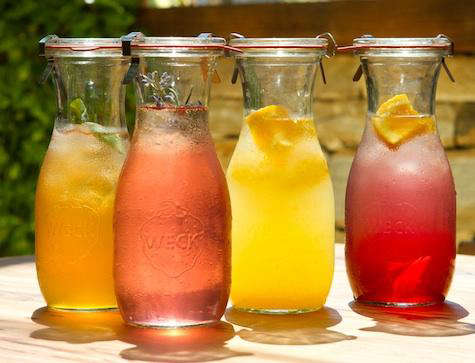 Weck juice jars full