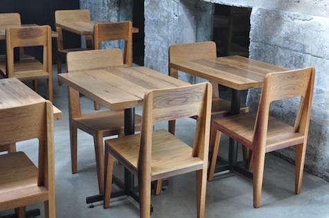bar agricole wood tables