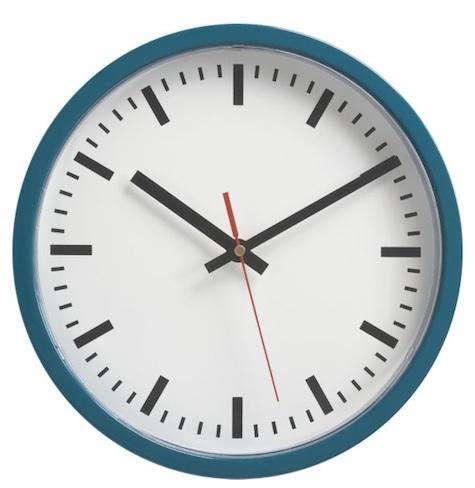 blue wall clock cb