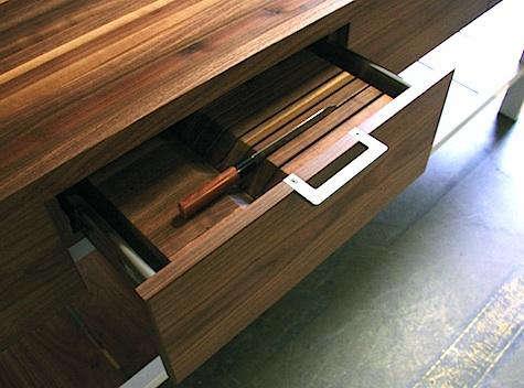 henrybuilt kitchen knife drawer open