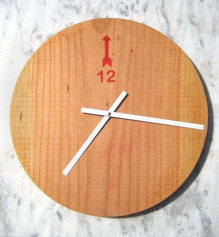 minimal reclaimed wood clock