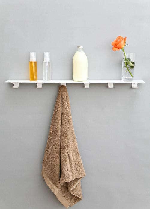 shelf white overhang