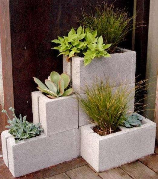 allisons concrete corner planter
