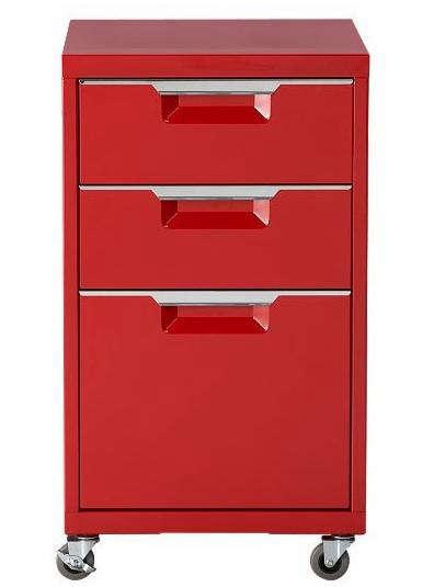 cb2 red file cabinet