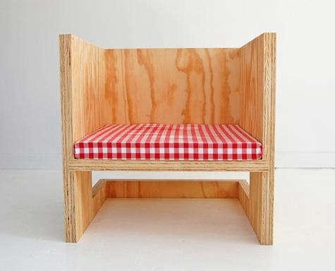 rolu cube chair minus upside down