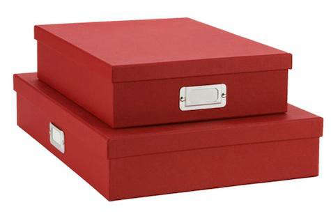 stockholm red document boxes