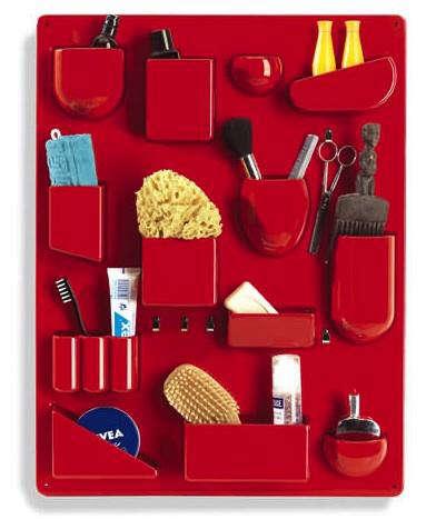 vitra wall organizer red