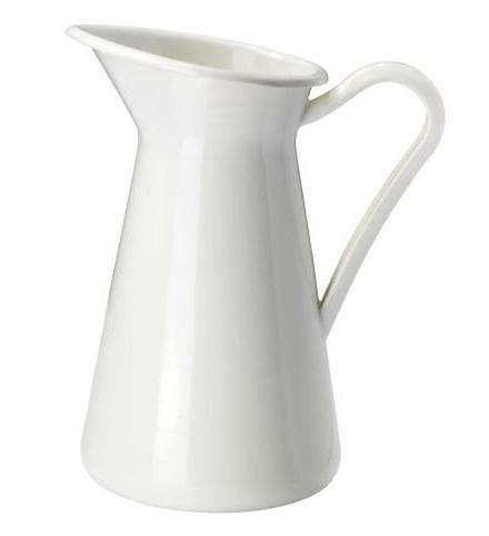 ikea white enamel pitcher