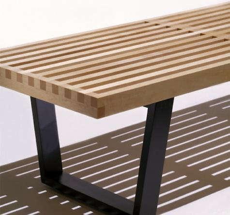 nelson bench black legs detail