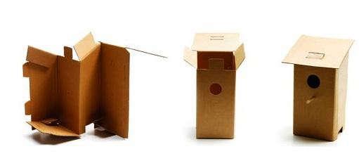 Birdhouse  20  cardboard