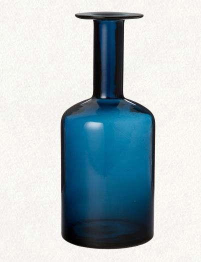 terrain blue glass vase