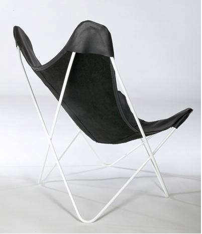 Furniture Leather Butterfly Chair at Circa 50 portrait 4