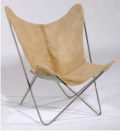 Furniture Leather Butterfly Chair at Circa 50 portrait 3