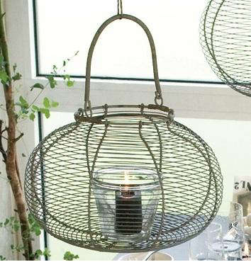 egg basket with candle