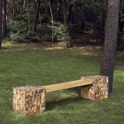 Outdoors Gabion Bench from Manufactum portrait 3