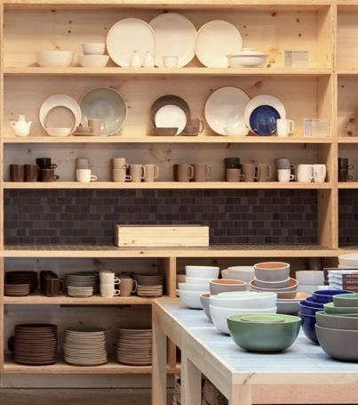 heath ceramics shelf