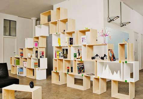 Furniture Stacked Shelf System from Muuto portrait 3