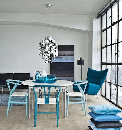 Furniture Blue Series Wishbone Chairs from Carl Hansen  Son portrait 3