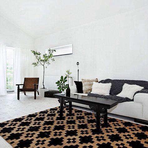 design sponge black white rug