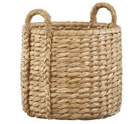 crate barrel seagrass basket
