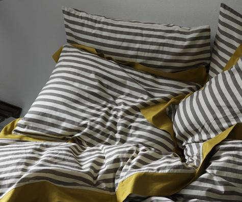 dwell studio gray stripe sheets