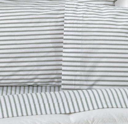 ticking stripe sheets ll bean
