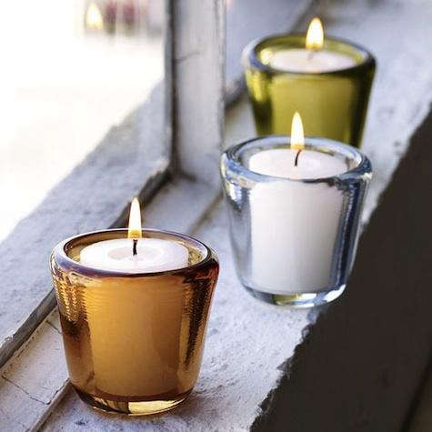 west elm chunky candle holder