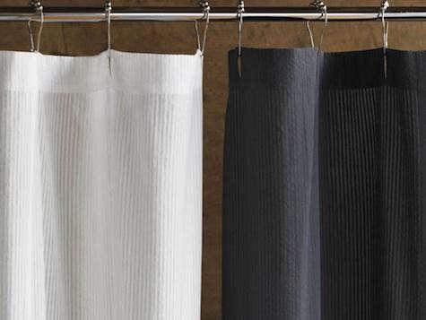 coyuchi seersucker shower curtains
