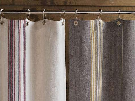 coyuchi shower curtain gray