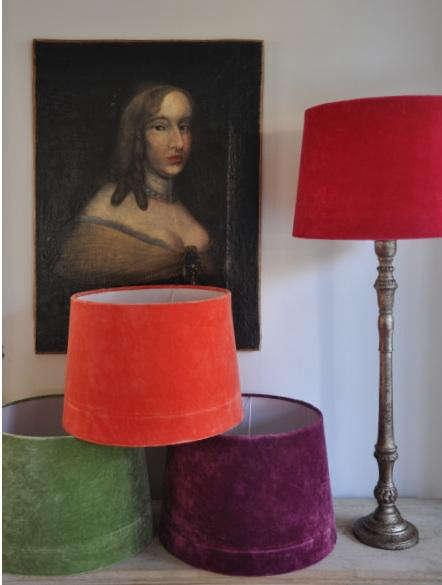 velvet lampshades sweden