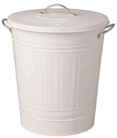 ikea white trash bin