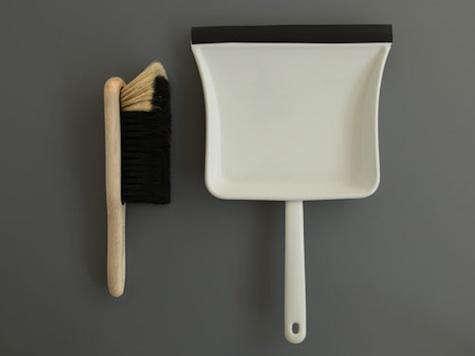 labour wait dustpan brush